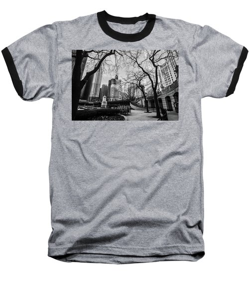 Windy Mornings In The Chi  Baseball T-Shirt
