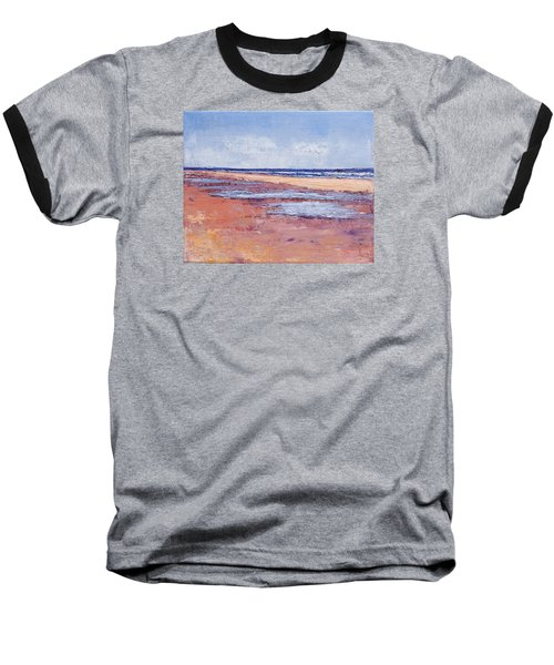 Windy October Beach Baseball T-Shirt