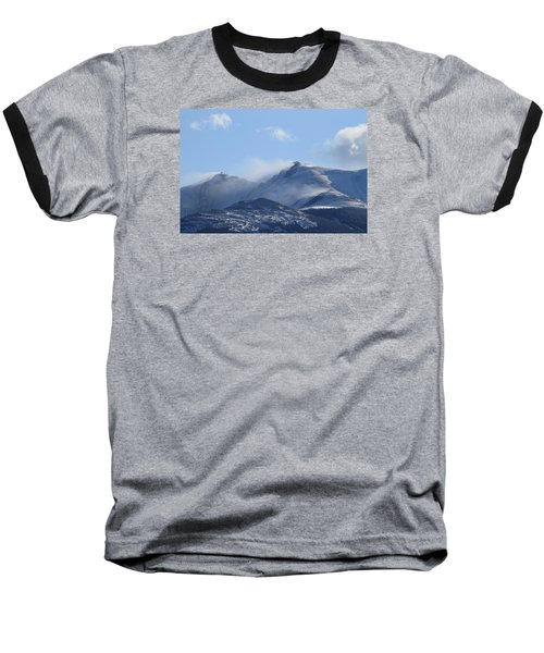 Windy Pikes Peak  Baseball T-Shirt by Christopher Kirby