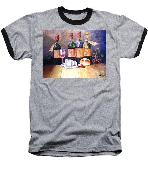 Wine And Cheese Baseball T-Shirt