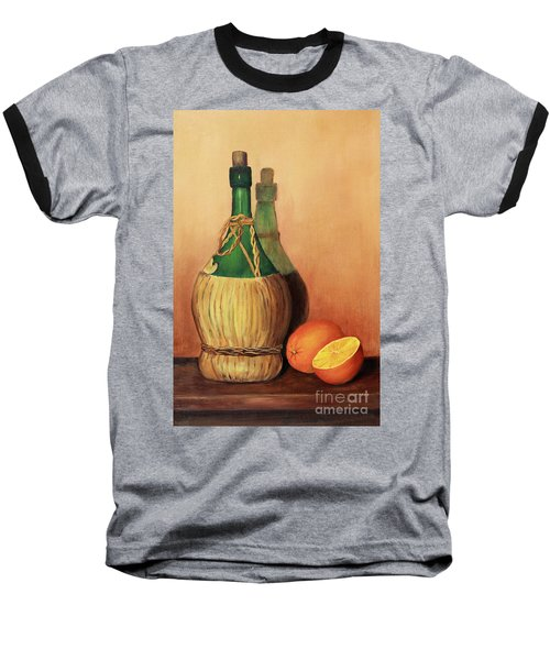 Wine And Oranges Baseball T-Shirt