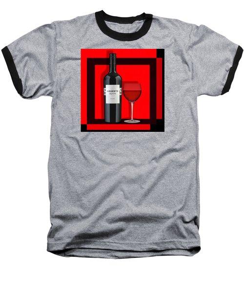 Wine Anyone-1 Baseball T-Shirt by Nina Bradica