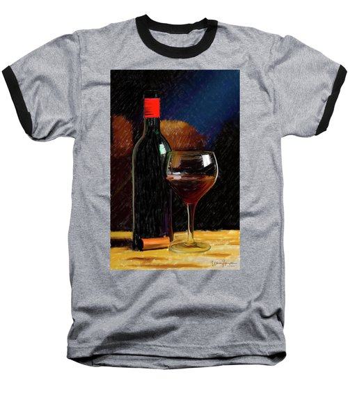 Wine Cellar 01 Baseball T-Shirt by Wally Hampton