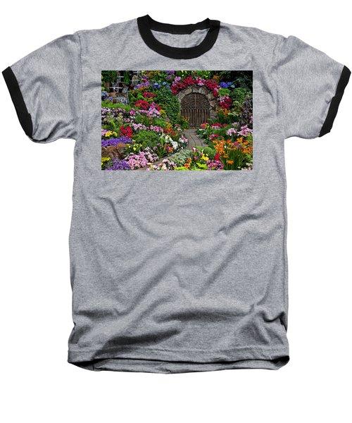 Wine Celler Gates  Baseball T-Shirt by Garry Gay