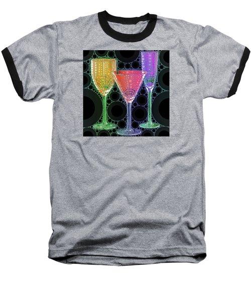 Wine Glass Art-1 Baseball T-Shirt by Nina Bradica