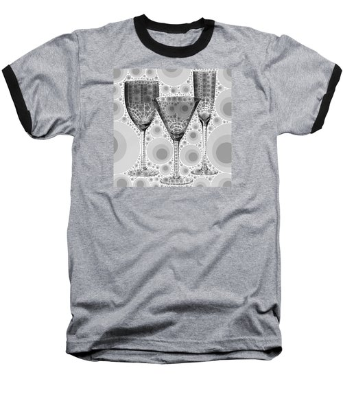 Wine Glass Art-3 Baseball T-Shirt by Nina Bradica