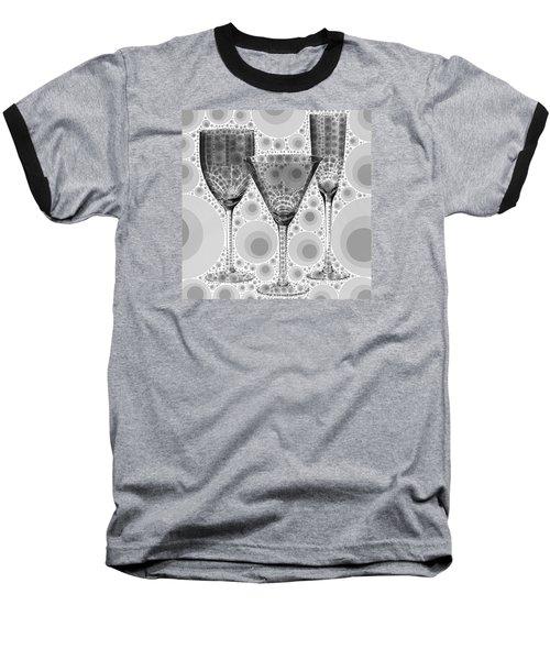 Wine Glass Art-3 Baseball T-Shirt