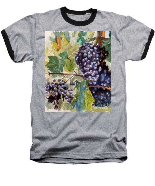 Wine Grapes Baseball T-Shirt by William Reed