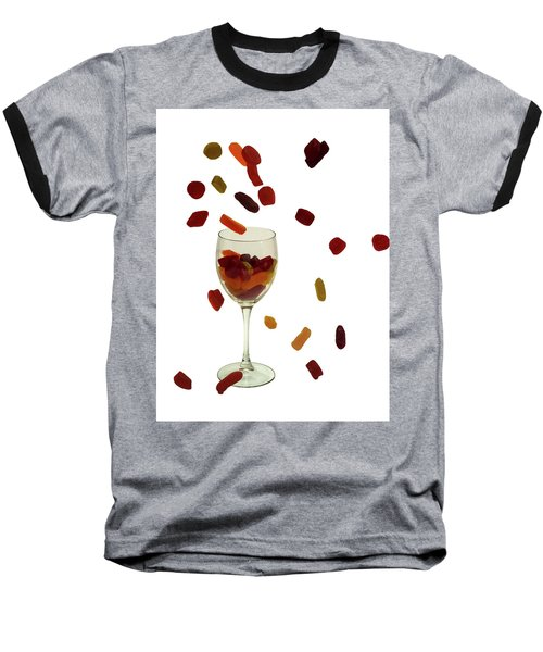 Baseball T-Shirt featuring the photograph Wine Gums Sweets by David French
