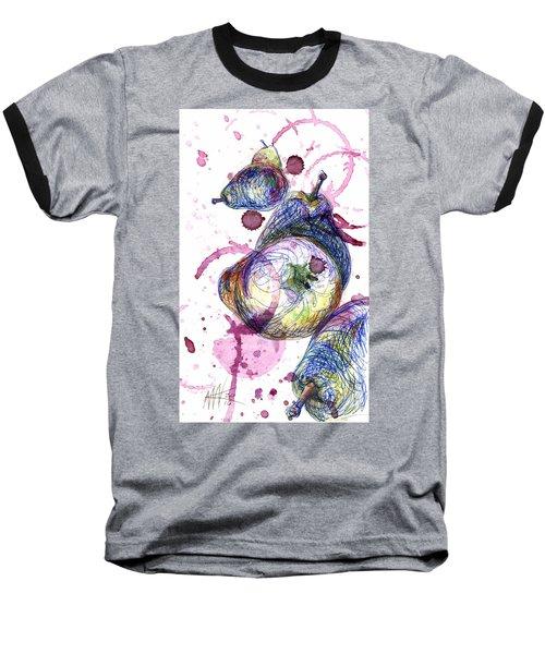Wine Pearing Baseball T-Shirt by Ashley Kujan