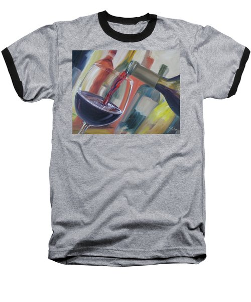 Wine Pour Baseball T-Shirt