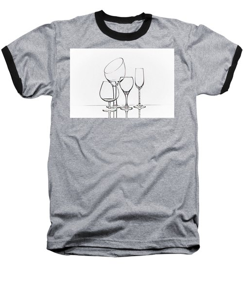 Wineglass Graphic Baseball T-Shirt