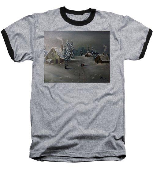 Winter In A German Village Baseball T-Shirt