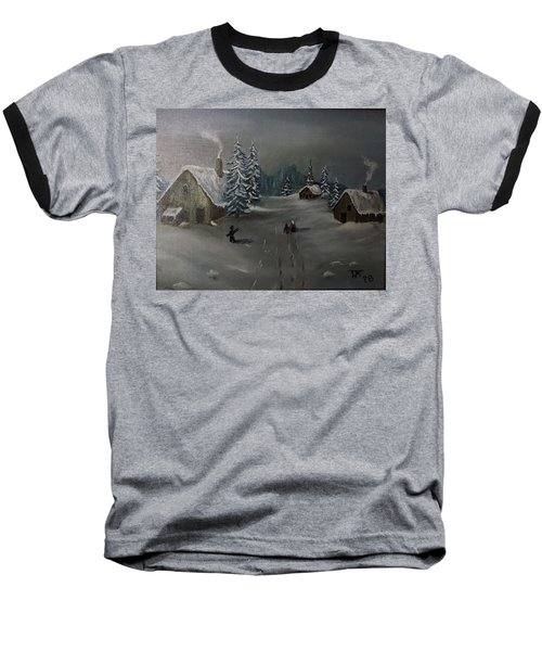 Winter In A German Village Baseball T-Shirt