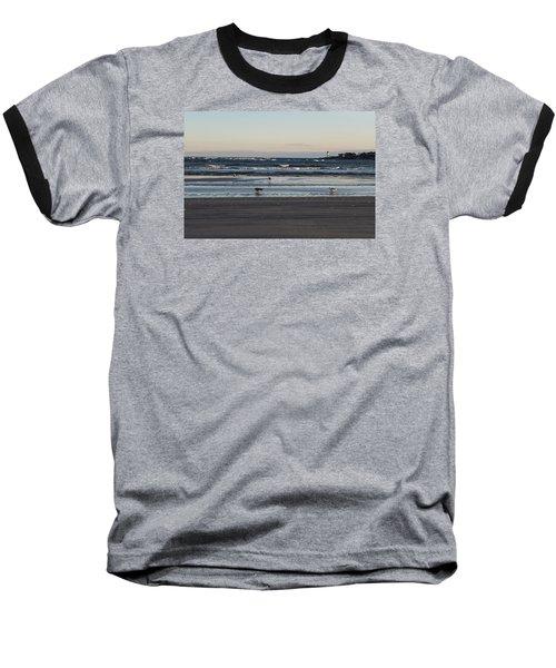 Wingaersheek Beach Seagulls At Sunrise Baseball T-Shirt