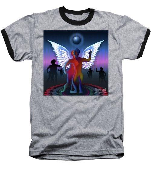 Winged Life Baseball T-Shirt by Rosa Cobos