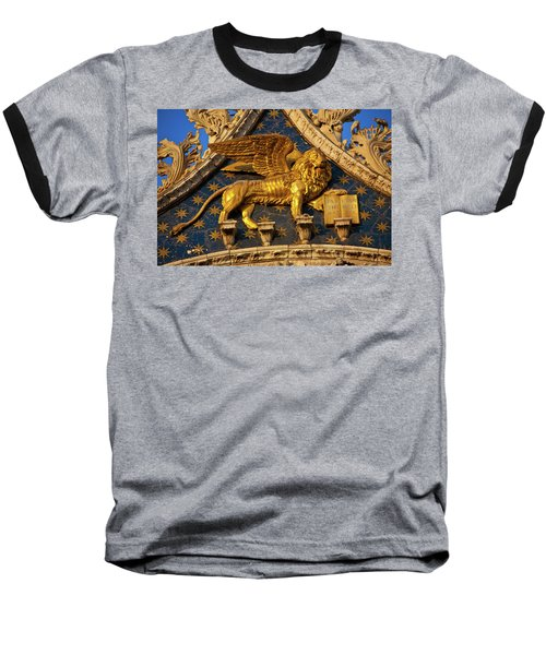Baseball T-Shirt featuring the photograph Winged Lion by Harry Spitz