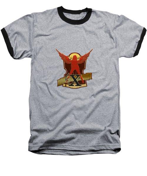 Winged Woman Initial X Baseball T-Shirt