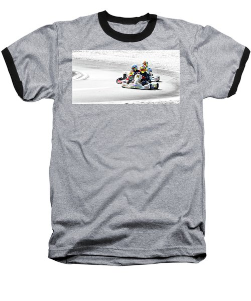 Wingham Go Karts 04 Baseball T-Shirt by Kevin Chippindall