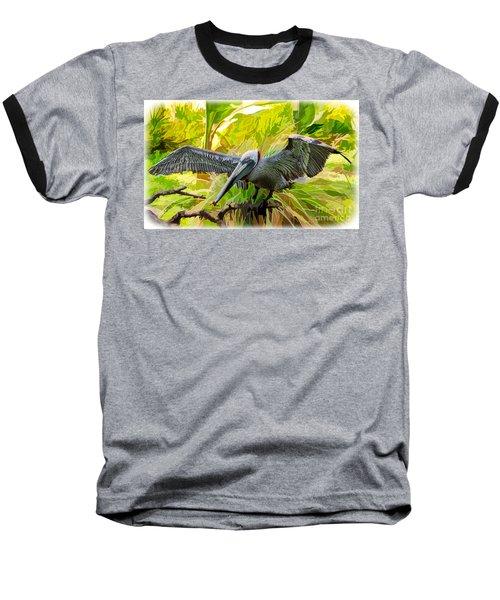 Winging It  Baseball T-Shirt by Judy Kay