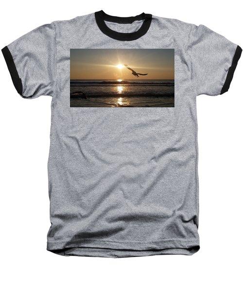 Wings Of Sunrise Baseball T-Shirt by Robert Banach