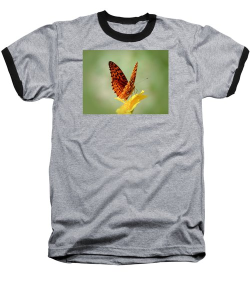 Wings Up - Butterfly Baseball T-Shirt