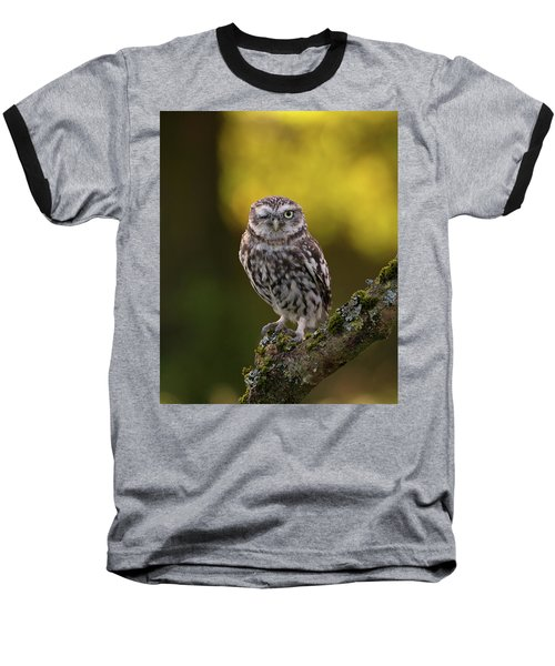 Winking Little Owl Baseball T-Shirt