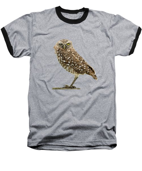 Baseball T-Shirt featuring the photograph Winking Owl by Bradford Martin