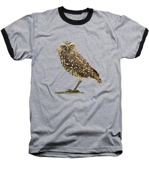 Winking Owl Baseball T-Shirt