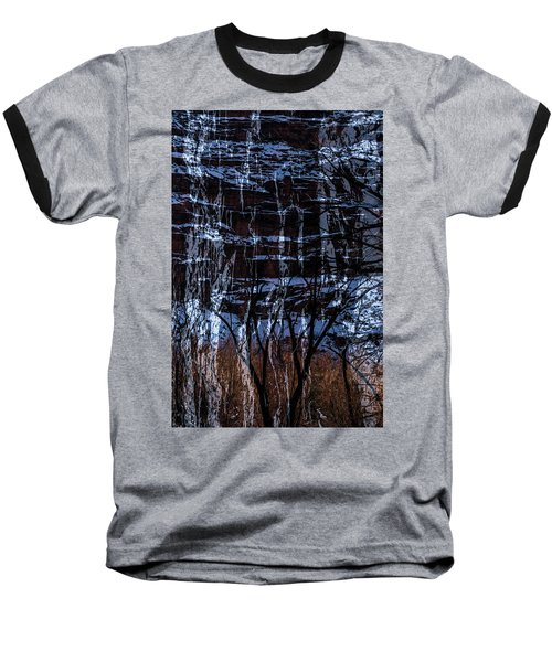 Winter Abstract Baseball T-Shirt
