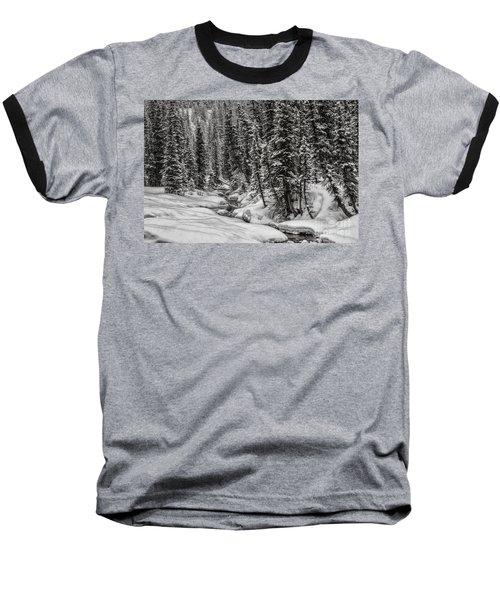 Winter Alpine Creek II Baseball T-Shirt