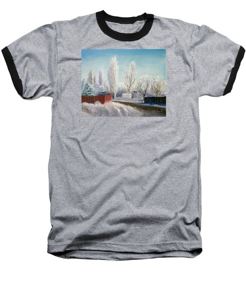 Baseball T-Shirt featuring the painting Winter At Bonanza by Sherril Porter