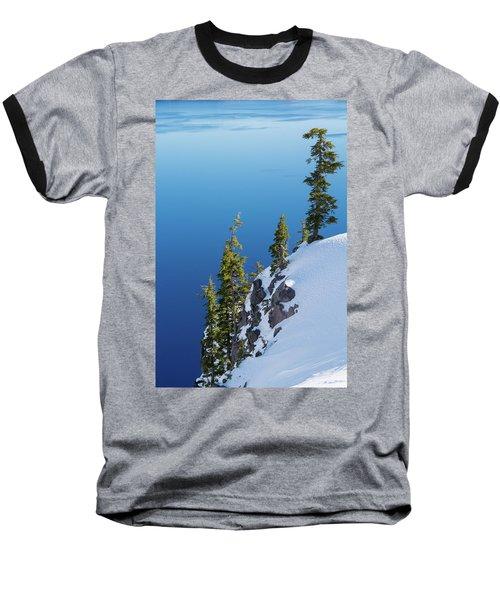 Winter At Crater Lake Baseball T-Shirt