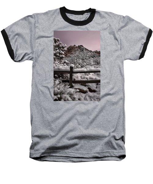 Baseball T-Shirt featuring the photograph Winter At Garden Of The Gods by Ellen Heaverlo