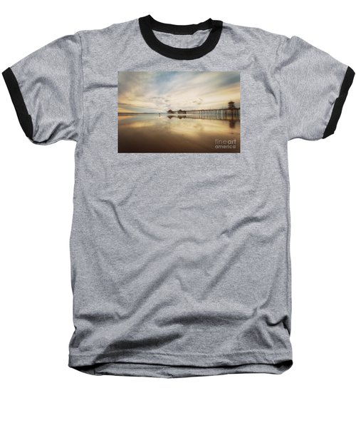 Winter At Huntington Beach Pier Baseball T-Shirt