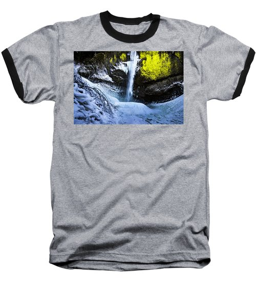 Winter At Latourell Falls Baseball T-Shirt