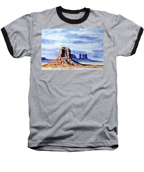 Winter At Merrick Butte Baseball T-Shirt