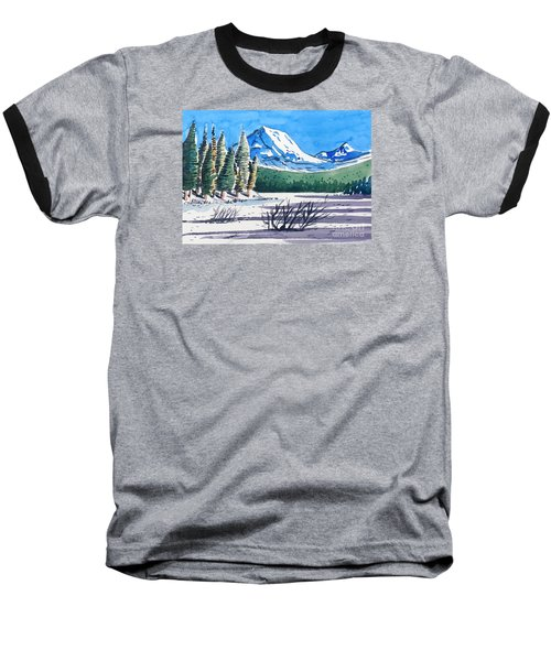 Winter At Mt. Lassen Baseball T-Shirt
