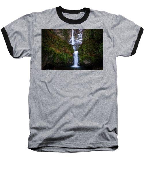Winter At Multnomah Falls Baseball T-Shirt