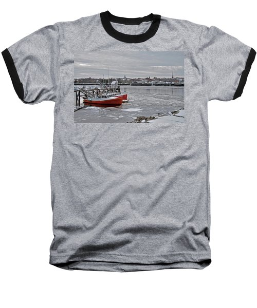 Winter At Newburyport Harbor Baseball T-Shirt