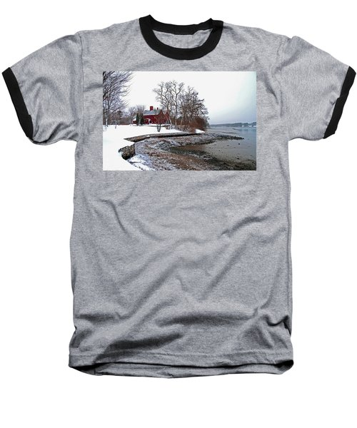 Winter At Perkins House  Baseball T-Shirt