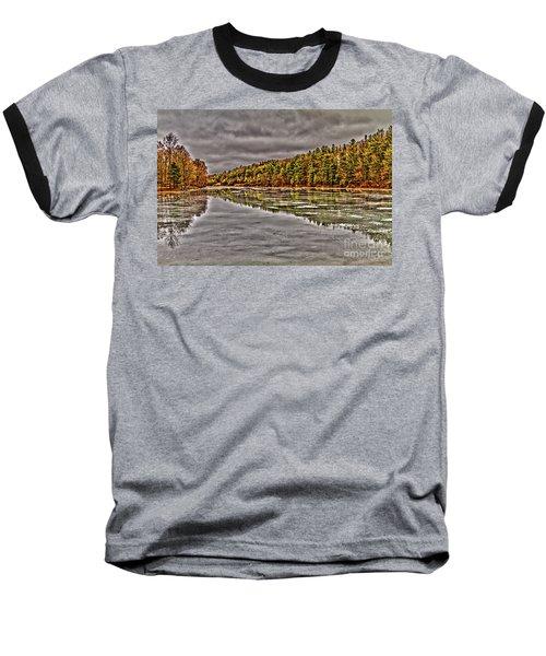 Winter At Pine Lake Baseball T-Shirt