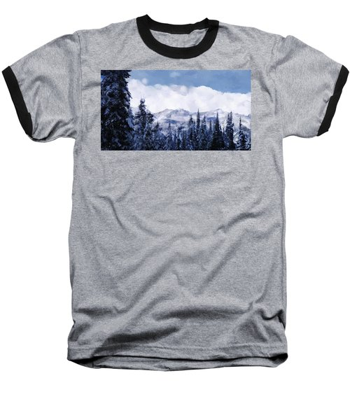 Winter At Revelstoke Baseball T-Shirt