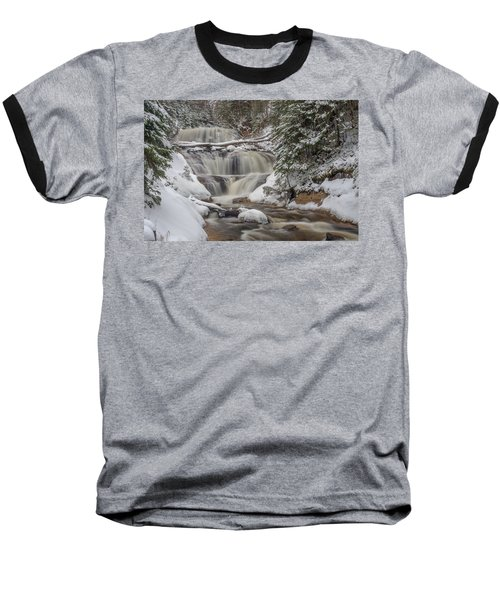 Winter At Sable Falls Baseball T-Shirt