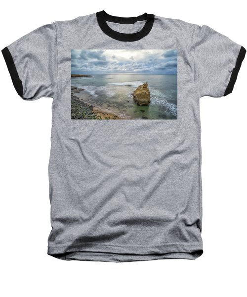 Winter At Sunset Cliffs Baseball T-Shirt by Joseph S Giacalone