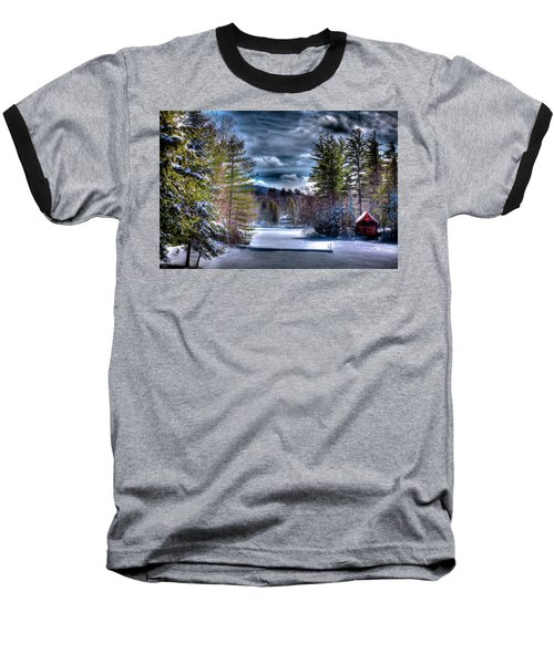 Baseball T-Shirt featuring the photograph Winter At The Boathouse by David Patterson