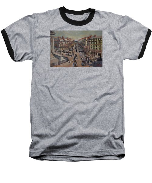 Winter At The Boulevard De La Madeleine, Paris Baseball T-Shirt