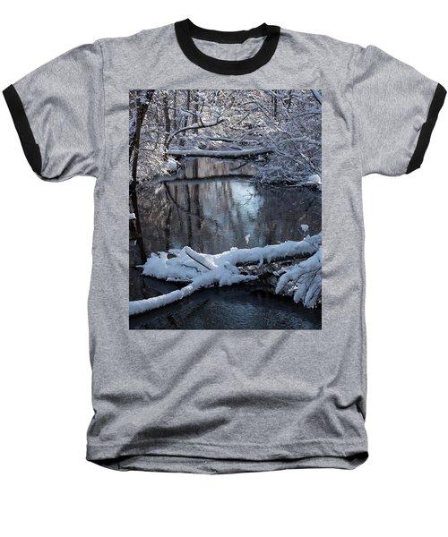 Winter At The Brook Baseball T-Shirt