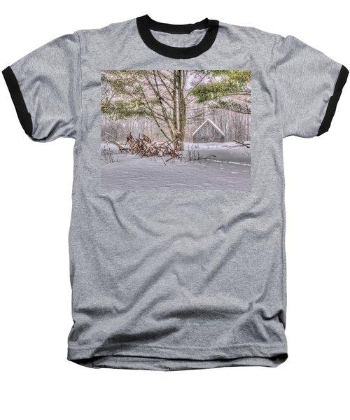 Winter At The Woods Baseball T-Shirt