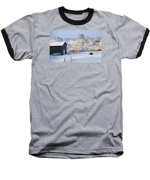 Winter Barn 1 Baseball T-Shirt